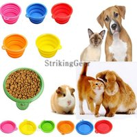 Wholesale Nice Dog Portable Silicone Collapsible Travel Feeding Bowl Water Dish Feeder