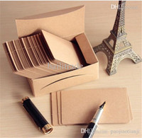 Cheap Retro Blank Diy Message Noted Card Kraft 260G Paper Thick Cardboard Corner Brown Paper Word Cards 100sheet Box 200sheet lot
