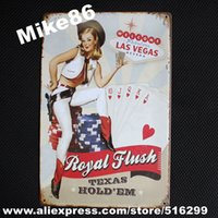 b posters - Mike86 Cowgirl LAS VEGAS Metal Signs Gift PUB Wall art Painting Poster Craft Bar Decor B Mix order CM