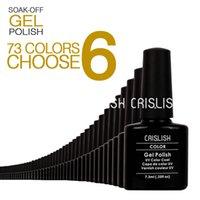 shellac nail polish - 73 Autumn Colors Available Hot Sale Crislish Shellac Soak Off UV LED Nail Gel Polish The Best Gel Polish