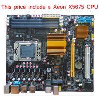 intel xeon server cpu - New Mainboard Original X58 Micro ATX Motherboard LGA1366 install with Xeon X5675 CPU include server processor