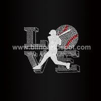 Cheap Iron On Glitter Motifs Best Rhinestone Baseball Transfers