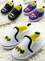 kids shoes cheap - Batman Superman pattern popular soft bottom casual shoes Kids loafers Looper cotton single cheap shoes toddler shoes sale pair cl