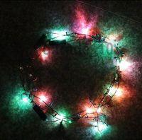 beaded pendant lights - 1000 BBA4822 hotsale Led Necklace Necklaces Flashing Beaded Light Toys Christmas gift lighted necklace LED Pendant Flash Luminous necklace