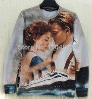 actress latest - 2015 latest style high quality fashion Women Men Classic Movies Titanic Actress Print D Sweatshirts hip hop Hoodies