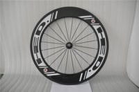 Wholesale 700C Carbon Wheels mm Clincher HED White Decal Ruote Carbonio Carbon Road Bike Wheelset Speed Roue Carbone with TI Skewers