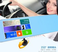 android mirror display - New inch Android Rearview Mirror Car DVR GPS navigation Rear view Full HD P car dvrs Daul camera video recorder vehicle