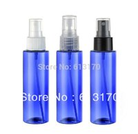 Wholesale 100ml plastic spray bottle pet perfume bottle blue high quanlity