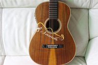 Wholesale new arrival OOO K all solid koa wood acoustic electric guitar AAA top quality satin finishing acoustic guitar