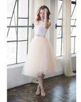 Wholesale Pink Layers Knee Length Adult Tutu Tulle Skirts Christmas Gown New Fashion Evening Party Skirts