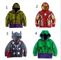 Wholesale 2016 best Children Hoodies Baby Boys Captain America Hoodies Jacket Avengers Hulk thor iron man Superhero cosplay Kids hoodie kids clothes
