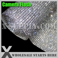 Wholesale DHL mm mm Iron On Crystal Rhinestone Mesh Sheet with Glue in Silver Base