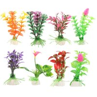 Wholesale Artificial Plastic Grass Fish Tank Ornament Water Plant Aquarium Decor K5BO