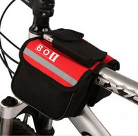 Wholesale 10 WATERPROOF BICYCLE BIKE DOUBLE PANNIER MOUNTAIN FRAME FRONT TUBE SADDLE BAG