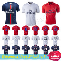france - Thai Quality PSG Jerseys Paris Saint Germain Football Uniforms France Zlatan Ibrahimovic Lucas Beckham David Luiz Soccer Jerseys