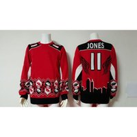 Cheap Red #11 Julio Jones Sweater Cheap Football Sweaters Thematic Ugly Sweater Fashion American Football Jerseys Hot Sale Pullover Sweater