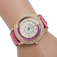 ad diamonds - pink leather strap diamond watches for ladies business women s watches gift watches for charistmas days small bulck ad watches