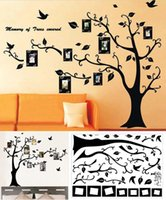 Wholesale Removable Room Decor Family Photo Frame Black Tree Wall Sticker Wall Decal