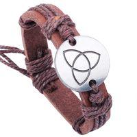 ancient egyptian style - Ancient Egyptian Style Alloy Bracelet Snap Jewelry Leather Bracelets for Women Multilayer Infinity Black Charm Bracelet for Men