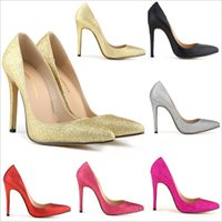 pink and black prom dresses - 2015 Plus Size Silver Thin Heel Pointed Glitter Dress Shoes Women s Pumps cm High Heels Prom Party Wedding Vintage Sexy Women Shoes