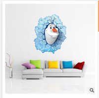 Wholesale 45 cm wall stickers New D Window Wall Sticker Frozen Olaf wall art stickers Home Decal Kids hoom decor R393