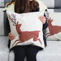 Cheap deer throw pillow cases bed sofa car home decorations ETH0123 decorative fronha Kissenbezug kussensloop cushion cover