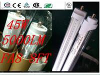 Cheap 45W T8 LED Tube Light 8ft 2400mm 2.4m FA8 LED fluorescent tube lamp SMD2835 High brightness 5000LM AC85-277V CE RoHS FCC ETL SAA UL