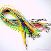 al por mayor cable de cinta de collares al por mayor-La cadena caliente de la venta encadena la cadena linda de los colgantes de los collares de la cinta del voile del Organza de los colores de la mezcla 3 + 1 18