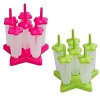 Cheap 6 Cell set Ice Pop Popsicle Lolly Maker Mould Star Shape Ice Cream Mold Mould