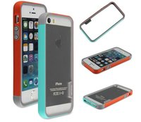 Wholesale Hybrid Walnutt Vivid Two Tone Bumper Frame Cover skin for iPhone inch plus inch s
