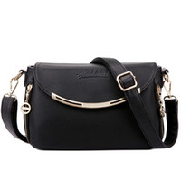 Wholesale AIBKHK Genuine Leather Shoulder Bag Women s Handbag Two Ply Cow Leather Messenger Bag Cross body Bag flap Four Colors M529