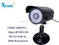 al por mayor cámaras de seguridad ntsc-HOT 1080TVL impermeable al aire libre bullet 36pcs IR llevó cámara de seguridad CCTV visión nocturna infrared cámara analógica