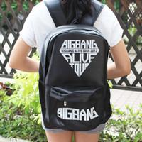 big bang backpack - korea KPOP Black GD Bigbang big bang one of a kind LOGO HOT HIPHOP Punk Backpacks Shoulder School Cool Rock Bag dance star