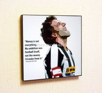 alessandro del piero - Alessandro Del Piero Pop Art Hand painted Canvas Painting Wall Art Football Poster Oil Painting Wood Frame Ready To Hang PA017