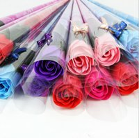 Wholesale Wedding Favor Gift Rose With Rhinestone And Bows Valentine s Day Mother s Day Lover Gift Good Quality C1457