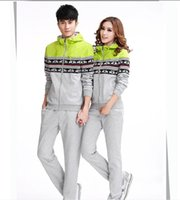 Wholesale Fall Korean version of the new men and women fashion lovers cartoon sports suit thin section tide models