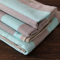 Wholesale Sheen fine partnership mom old coarse old coarse mat baby blanket baby four seasons five sets simple solid color