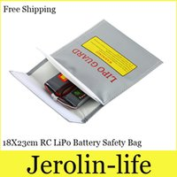 Wholesale 18X23cm RC LiPo Battery Safety Bag Case Safe Guard Charge Sack Hot Selling