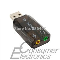 Wholesale 1pc Microphone Jack Converter USB Audio Headset Sound Card Adapter