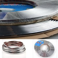 Wholesale 15Meter x mm Chrome Styling Moulding Decoration Trim Strip Car Front Rear Body Door Window