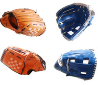 Wholesale 2 style quot Youth Ball Glove Kid Baseball Glove Blue Brown g Banded Soft Foam Gloves best Birthday Gift for Kid E430J