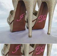 diamante buckles - Wedding Shoe stickers I DO ME TOO Diamante Crystal White Pink Blue bridesmaid shoes Sticker FQ009