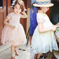 kids clothes high quality - 2015 Kids Girls Summer Chiffon Clothes High Quality Children Girl Flower Princess Dress Childrens Short Sleeveless Child Gauze Dresses