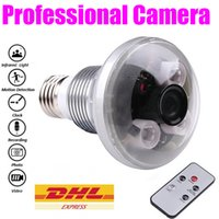 Wholesale HD Lamp Bulb Spy Hidden Camera M Pixels Night Vision Bulb Lamp Camcorder Motion Detection Light Bulb Cam Digital Video Recorder MS