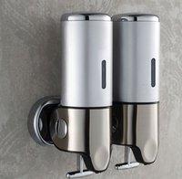 Wholesale Brand New Manual Soap Dispenser Double Slider Soap Stainless Steel Panel Wall Soap Dispenser Emulsion For Liquid Soap Box
