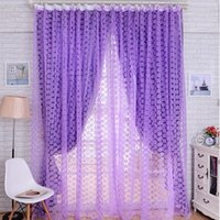 Wholesale Hot Rose Tulle Window Screens Door Balcony Curtain Panel Sheer Scarfs Curtain Colors