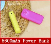 Cheap 5600mah USB External battery charger Power bank banks with flashlight 5600 mah for iphone 4 5 5s 6 samsung galaxy s3 s4 s5 note 2 3 htc one