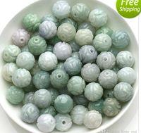 Wholesale AAA Emerald bead jade materials home DIY Hand Beaded jade carved jade bead jewelry accessories