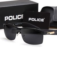 half frame glasses - 2015 new men s brand sunglasses POLICE half a square frame sunglasses polarized glasses upscale business