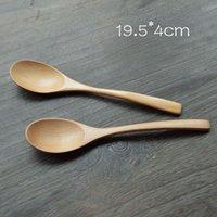 Wholesale Cooking Tools Long Handle Mixing Spoon Wooden Dinnerware Schima Superba Soup Ladle Burlywood Spoon